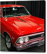 1966 Chevy Chevelle Ss 396 . Red . 7d9278 Canvas Print by Wingsdomain Art and Photography