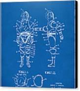 1968 Hard Space Suit Patent Artwork - Blueprint Canvas Print by Nikki Marie Smith
