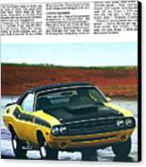 1971 Dodge Challenger T/a Canvas Print by Digital Repro Depot