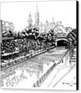 1971 Rideau Canal Ottawa Canvas Print