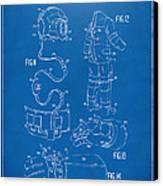 1973 Space Suit Elements Patent Artwork - Blueprint Canvas Print by Nikki Marie Smith