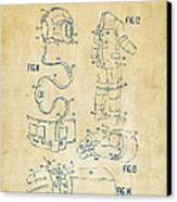 1973 Space Suit Elements Patent Artwork - Vintage Canvas Print by Nikki Marie Smith