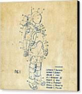 1973 Space Suit Patent Inventors Artwork - Vintage Canvas Print by Nikki Marie Smith