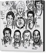 1981 Boston Celtics Championship Newspaper Poster Canvas Print by Dave Olsen