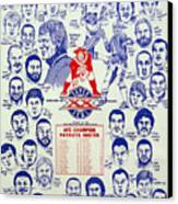 1985 New England Patriots Superbowl Newspaper Poster Canvas Print