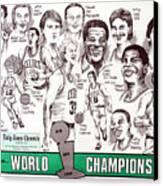 1986 Boston Celtics Championship Newspaper Poster Canvas Print