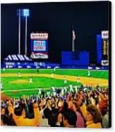1986 World  Series At Shea Canvas Print by T Kolendera