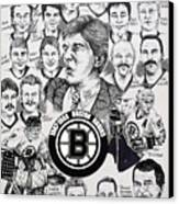 1988 Boston Bruins Newspaper Poster Canvas Print