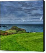 1st Green Cape Cornwall Golf Club Canvas Print by Chris Thaxter