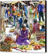 Saturday Market Canvas Print