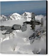 A-10 Thunderbolt IIs Fly Canvas Print