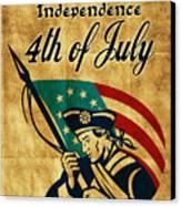 American Revolution Soldier General Canvas Print by Aloysius Patrimonio