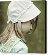 Amish Child Canvas Print by Stephanie Frey