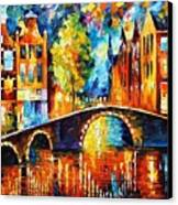 Amsterdam Canvas Print by Leonid Afremov
