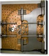 Bank Vault Door Exterior Canvas Print