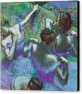 Blue Dancers Canvas Print