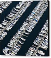 Boats In A Marina Canvas Print by Don Mason