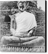Buddha Statue Canvas Print by Thosaporn Wintachai
