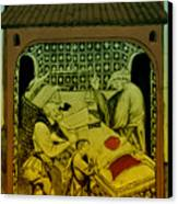 Butcher, Medieval Tradesman Canvas Print