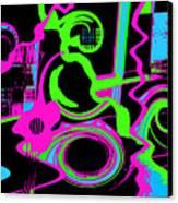 Cosmic Dj Canvas Print by Cristophers Dream Artistry