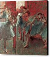 Dancers At Rehearsal Canvas Print by Edgar Degas