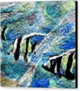 Detail Of Water Canvas Print by Kimberly Simon