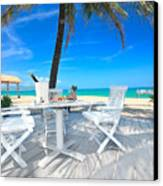 Dinner On The Beach Canvas Print by MotHaiBaPhoto Prints