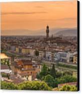 Florence Sunset Canvas Print by Mick Burkey