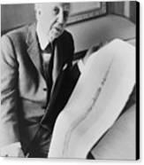 Frank Lloyd Wright 1867-1959, American Canvas Print by Everett