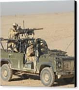Gurkhas Patrol Afghanistan In A Land Canvas Print