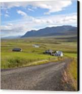 Iceland Landscape Canvas Print by Ambika Jhunjhunwala