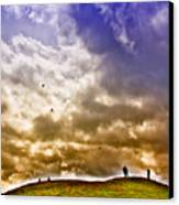 Kite Flying Canvas Print by David Patterson