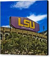 Lsu Tiger Stadium Canvas Print by Scott Pellegrin