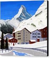 Matterhorn-zermatt Canvas Print