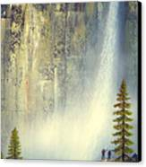 Misty Falls Canvas Print