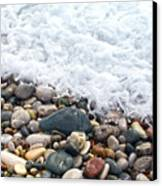 Ocean Stones Canvas Print by Stelios Kleanthous