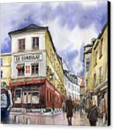 Paris Montmartre  Canvas Print by Yuriy  Shevchuk