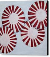 Peppermint Twist Canvas Print by Penny Everhart