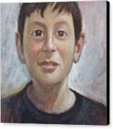 Portrait Of A Boy Canvas Print by George Siaba