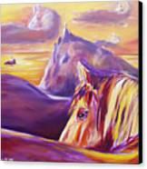 Horse World Canvas Print