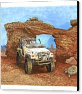2005 Jeep Rubicon 4 Wheeler Canvas Print