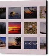 2008 Calendar Back Of Gulf Views Edition Canvas Print