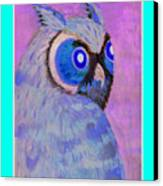 2009 Owl Negative Canvas Print
