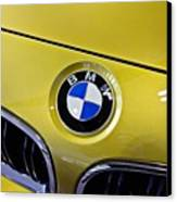 2015 Bmw M4 Hood Canvas Print by Aaron Berg