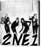 2ne1 Korean Pop Power Canvas Print by Kenal Louis