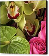 A Close-up Of A Bouquet Of Flowers Canvas Print