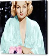 Carole Lombard, Ca. 1930s Canvas Print by Everett