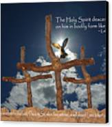 3 Crosses Descent Of Holy Spirit Canvas Print by Robyn Stacey