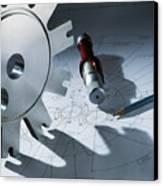 Engineering Equipment Canvas Print