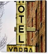 Hotel Yorba Canvas Print by Gordon Dean II